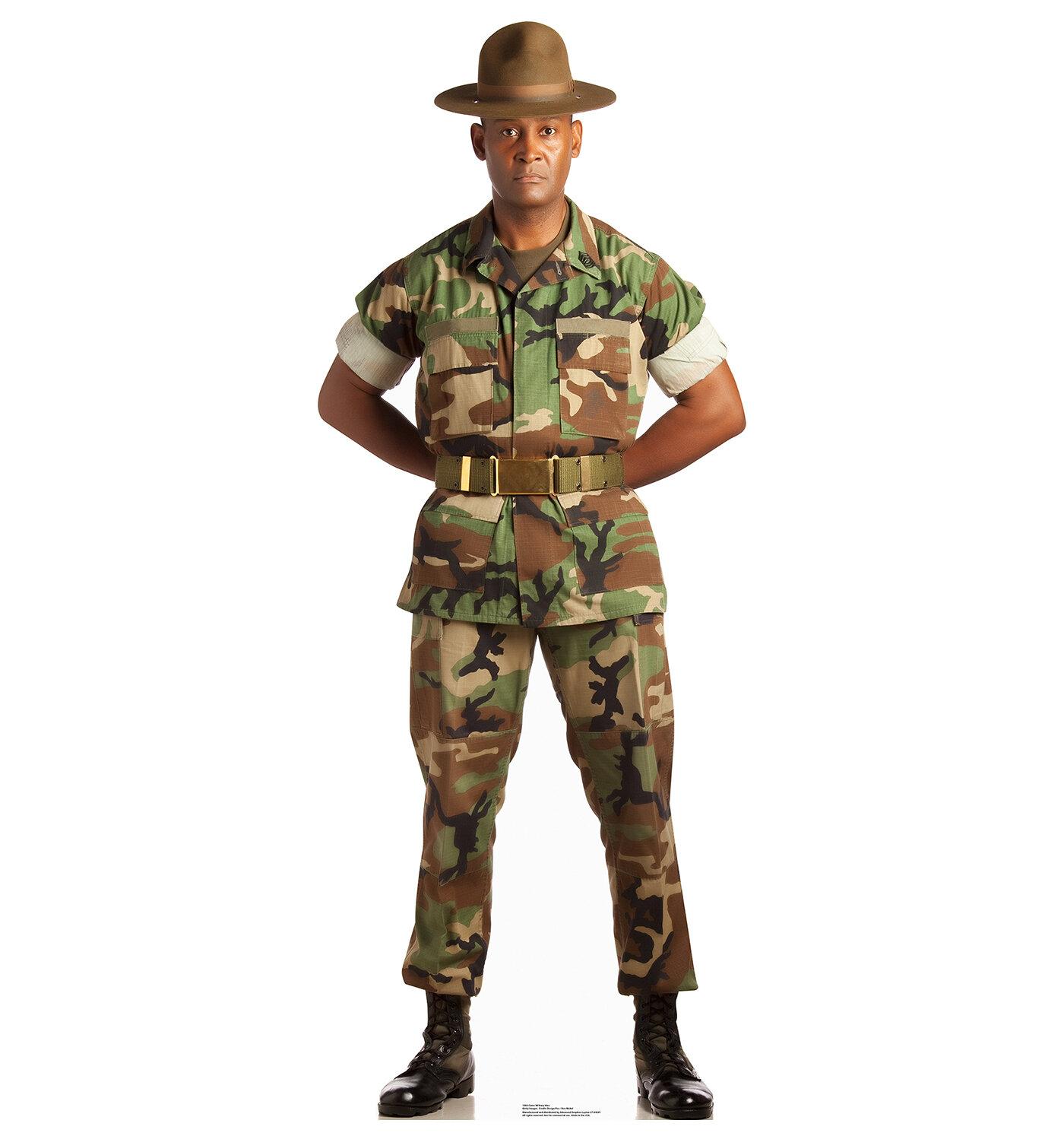 Advanced Graphics Camo Military Man Cardboard Cutout Stand-Up   Wayfair
