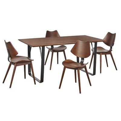 George Oliver Fruithurst 5 Piece Solid Wood Dining Set