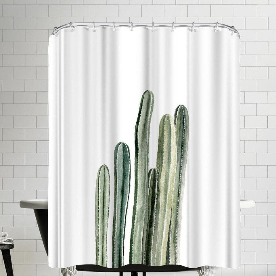 East Urban Home Tall Cacti Shower Curtain