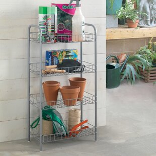 Monaco All-Purpose Shelf with 4 Tiers by Metaltex