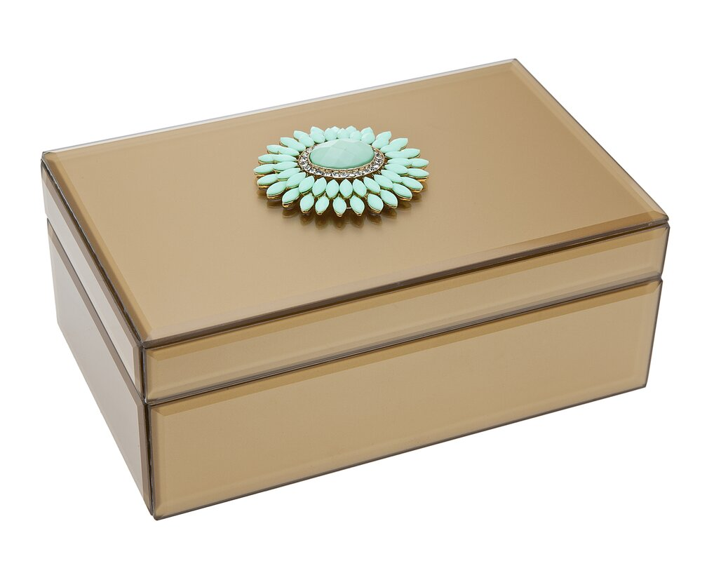 Philip Whitney Jewelry Box with Brooch Accent Reviews Wayfair