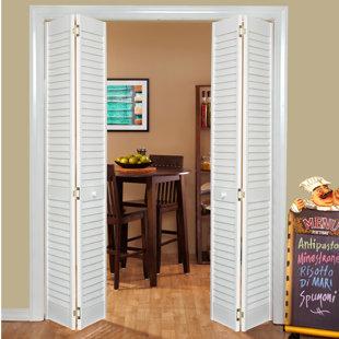 Louvered Wood Radiata Bi Fold Doors