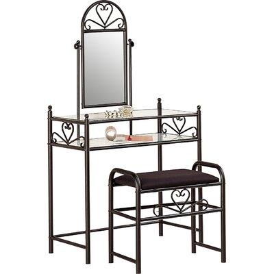 Fairfax Vanity Set with Mirror2 Piece Josephine Vanity Set   Reviews   Joss   Main. White Metal Vanity Set. Home Design Ideas