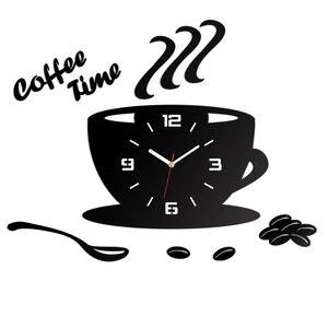 Analoge Wanduhr Coffee Time 3D