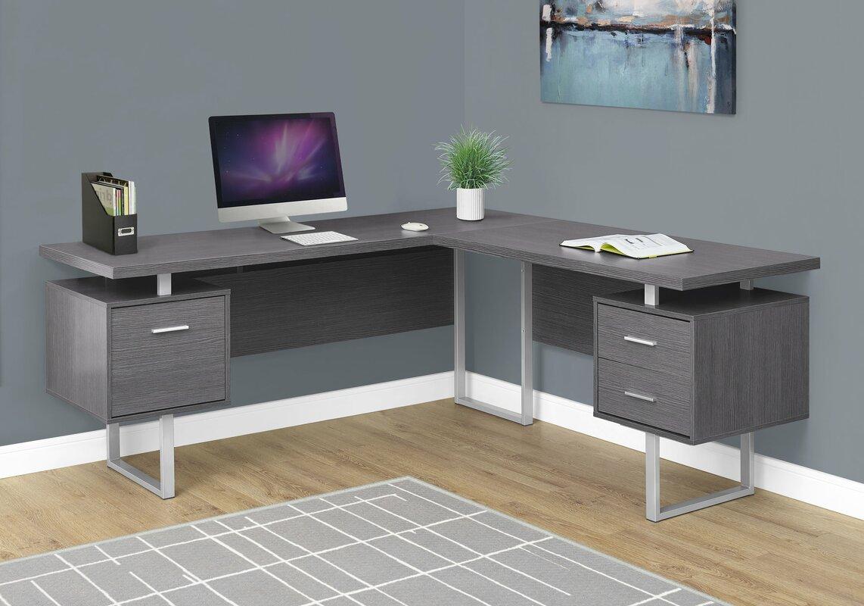 Latitude Run Darroll L Shape Corner Desk Amp Reviews