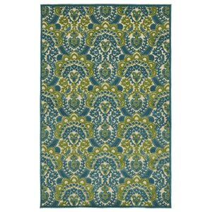Lewis Blue Indoor/Outdoor Area Rug