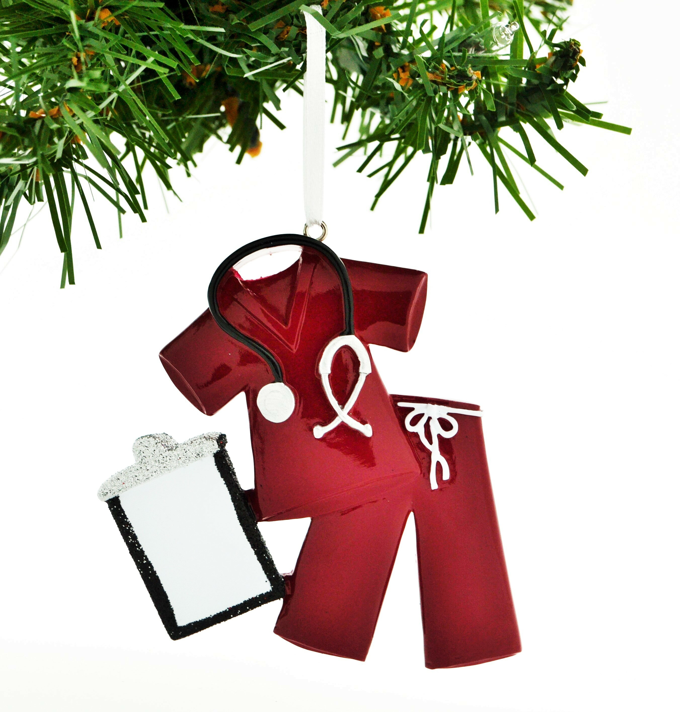 Personalized by Santa Personalized Christmas Ornament Scrubs Doctor ...