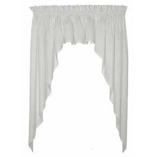 Kitchen Curtains & Valances You'll   Wayfair on two tone kitchen colors, two tone kitchen cabinet ideas, two tone shaker style kitchen,