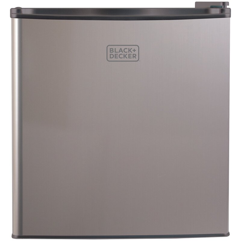 Black + Decker 1.7 cu. ft. Compact Refrigerator with Freezer  Color: Silver