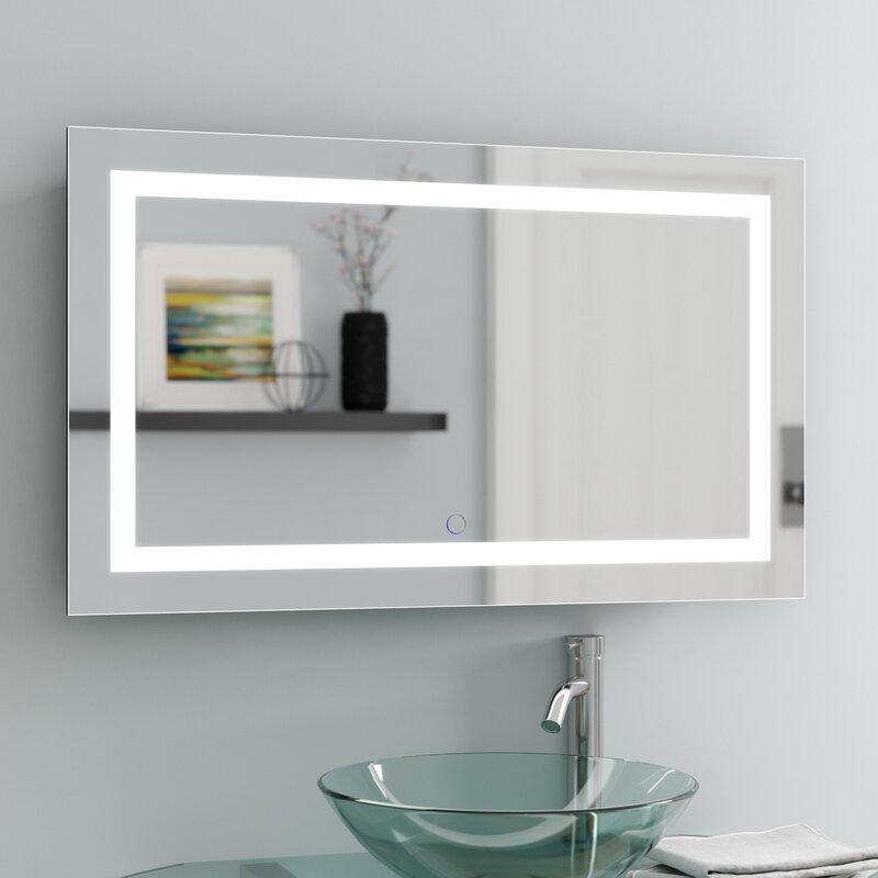 Orren Ellis Ries Led Lighted Wall Mirror Reviews Wayfair