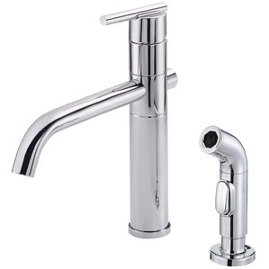 Danze? Parma Single Handle Deck Mounted Kitchen Faucet with Side Spray