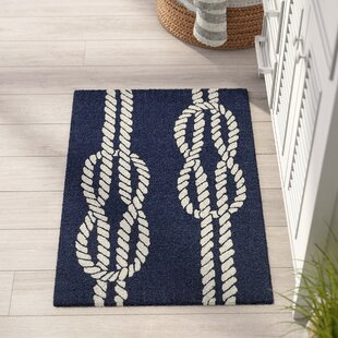 Online Reviews George Ropes Hand-Tufted Navy Indoor/Outdoor Area Rug ByBeachcrest Home
