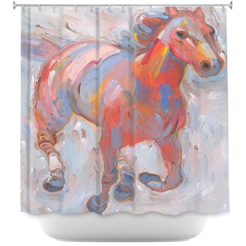 Hear The Pounding I Horses Shower Curtain