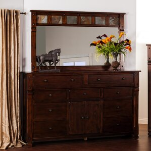 Fresno 9 Drawer Dresser with Mirror by..