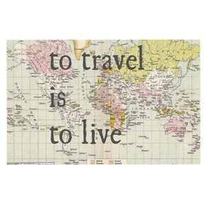 Catherine Holcombe 'To Travel is to Live' Color Map Decorative Doormat