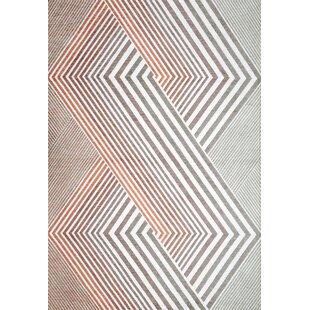 Jason Grey/Orange Rug by Longweave