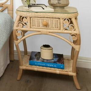 Patton Rattan Side Table by Mistana