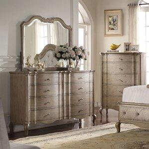 Anatolio 8 Drawer Double Dresser with Mirror by One Allium Way