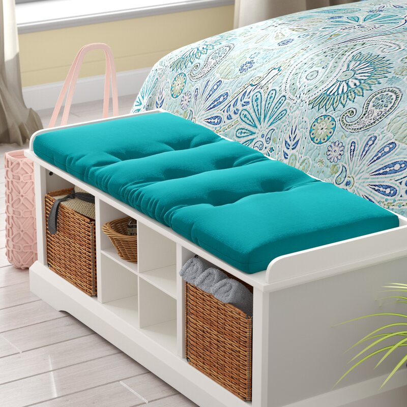 Beachcrest Home Indoor/Outdoor Rectangle Bench Cushion & Reviews ...