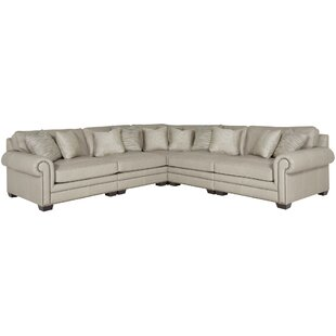 Grandview Leather Modular Sectional. By Bernhardt