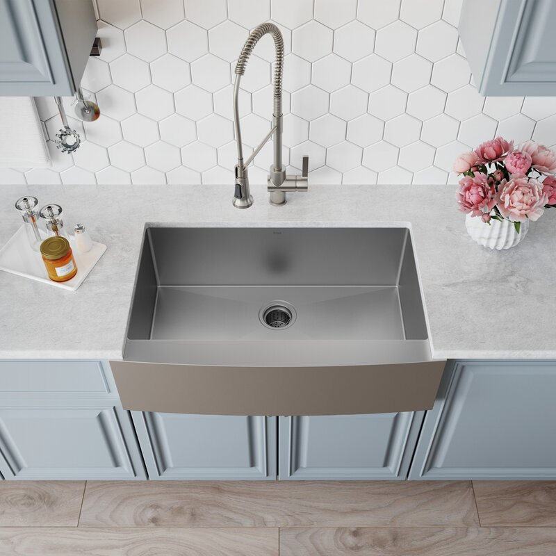 Kraus 33 Quot X 21 Quot Farmhouse Kitchen Sink With Drain Assembly