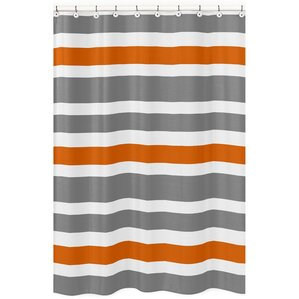 brown and orange shower curtain. Stripe Brushed Microfiber Shower Curtain Orange Curtains You ll Love  Wayfair