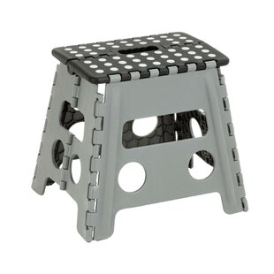 Folding 1 Step Plastic Stool With 150 Lb Load Capacity