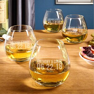 Better Together Custom 20 Oz. Stemless Wine Glass (Set of 4)