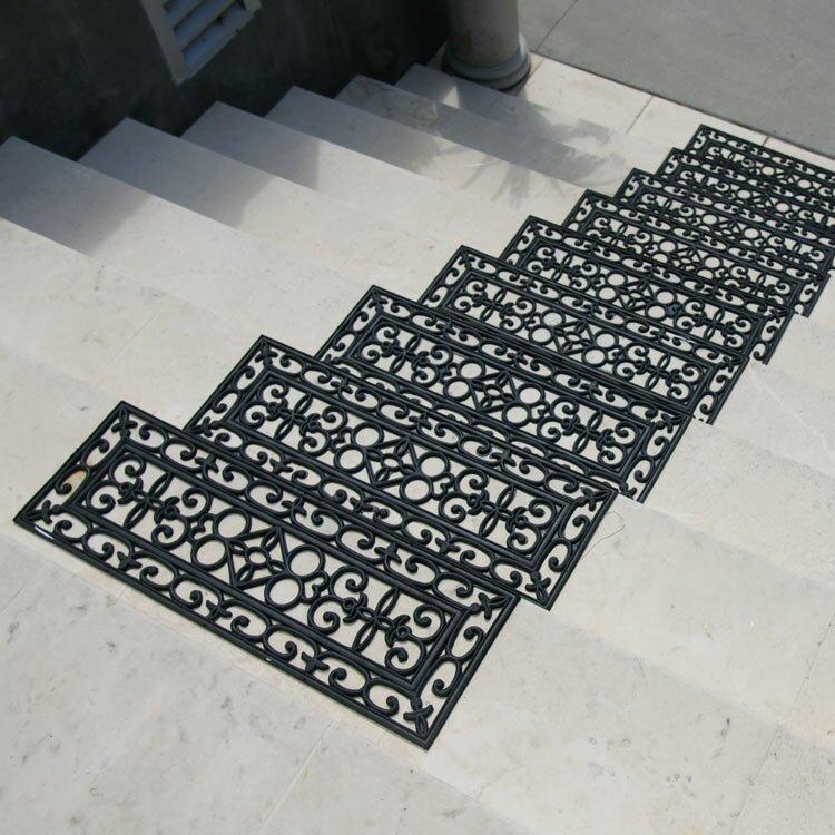 Nice 6 Piece Regal Rubber Stair Treads Step Mat Set