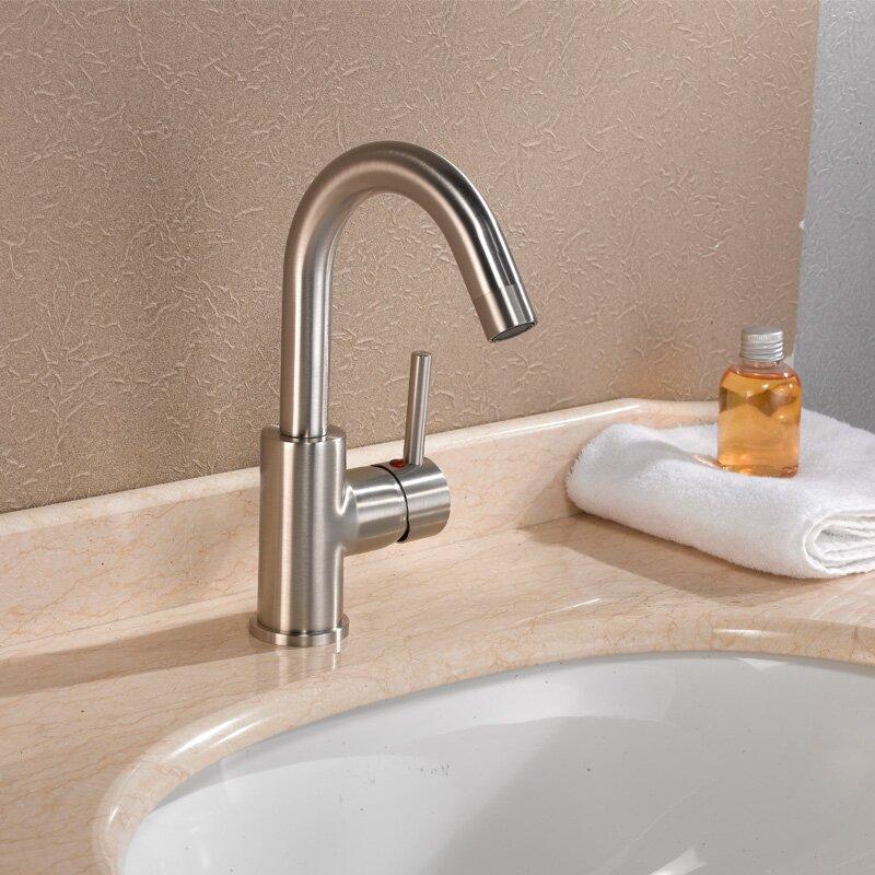 cadell single handle single hole bathroom faucet & reviews | wayfair