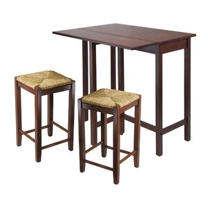 Bettencourt 3 Piece Dining Set by Red Bar..