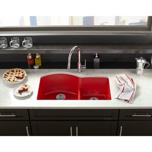 ... Elkay | Wayfair On Red Porcelain Sink, Bright Colored Cast Iron Sink,  Red Apron ...