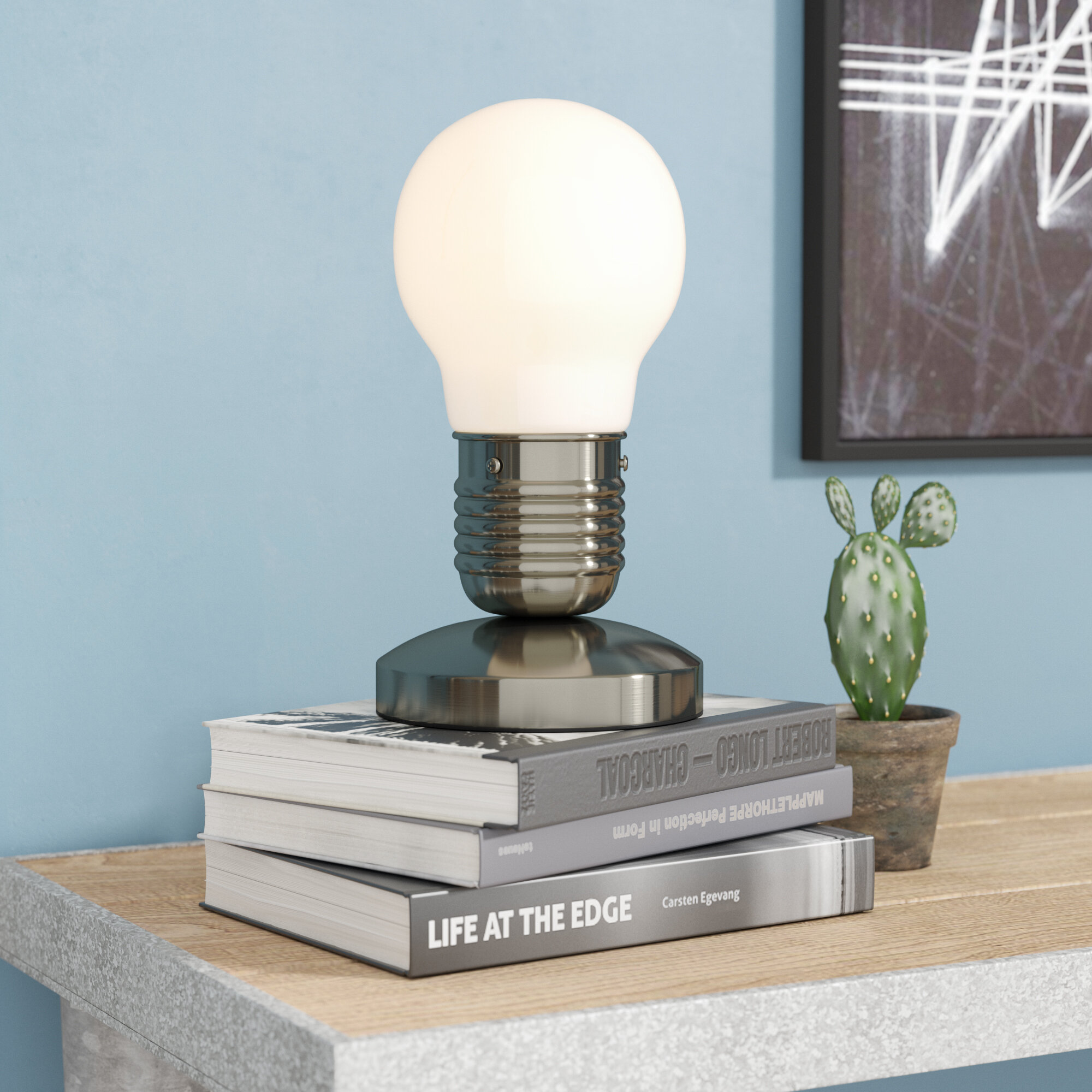 Wylie edison style mini touch 10 63 table lamp