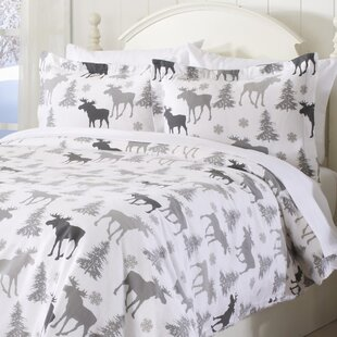Stephan Extra Soft Printed Flannel Duvet Cover Set