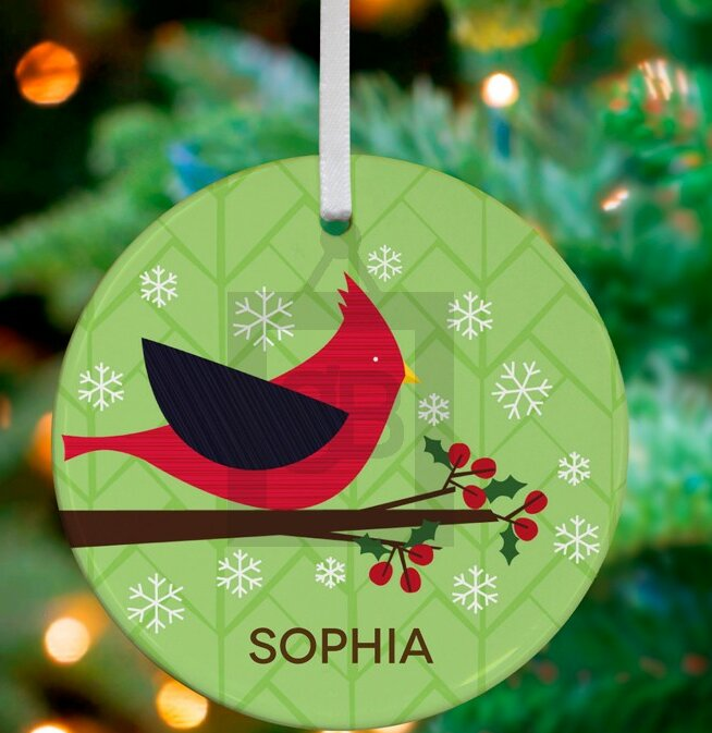 pictures of kitchen island oopsy winter cardinal personalized ornament by 21277