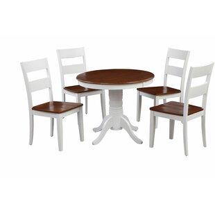 McDiarmid Fulantville 5 Piece Breakfast Nook Solid Wood Dining Set