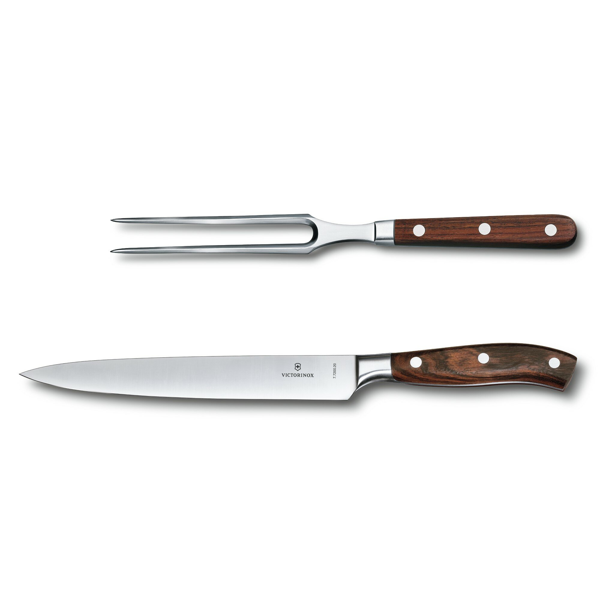 Victorinox Swiss Army Grand Maître Rosewood 2 Piece Carving Set ...