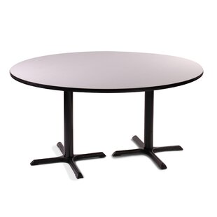 High Round Bar And Café Table With 2 Cross Bases Columns
