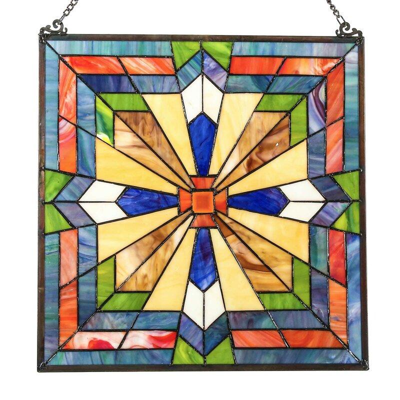 River Of Goods Southwest Sunburst Tiffany Style Stained Glass