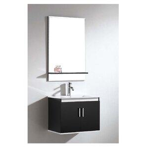 Brizendine Rectangle Frameless Mirror With Shelf