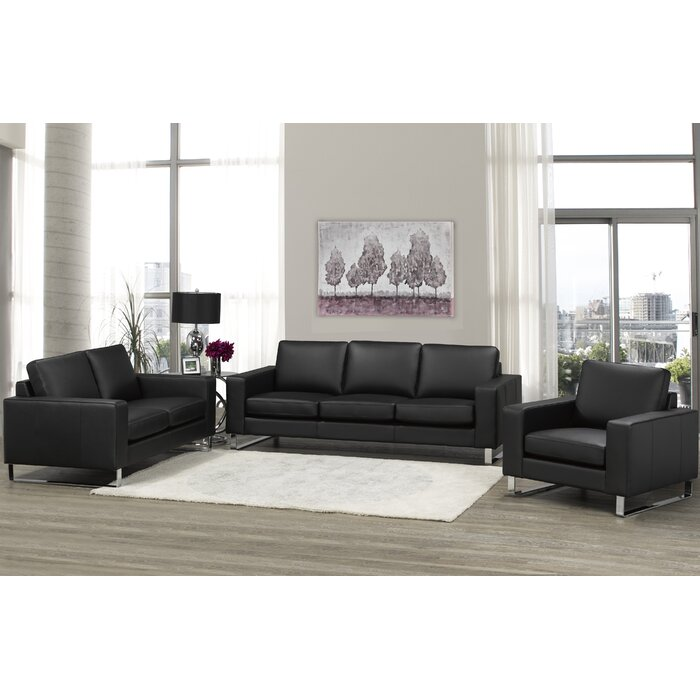 Tremendous Keown 3 Piece Leather Living Room Set Home Interior And Landscaping Mentranervesignezvosmurscom