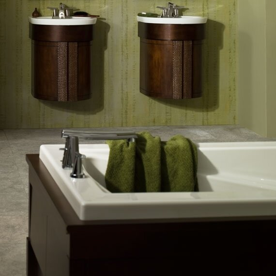 American Standard Fluent Green Tea Double Handle Deck Mount Tub Only ...