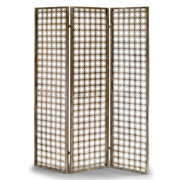 Glamour Home Decor Abbey 70 6 X 56 7 Metal Frame Folding Screen Effect 3 Panel Room Divider Reviews Wayfair