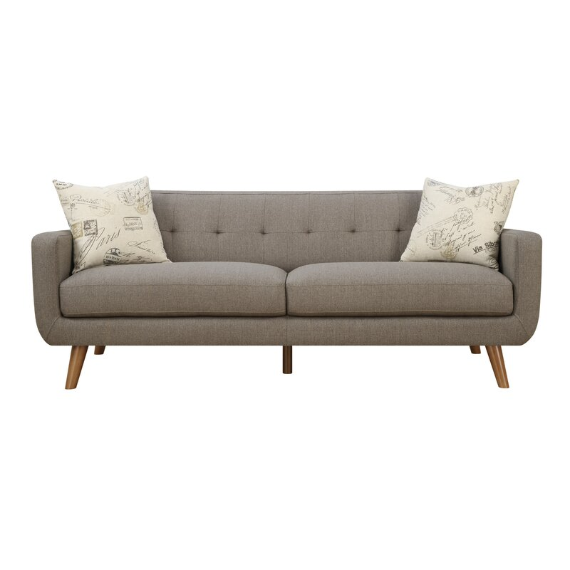 Charmant Mid Century Modern Sofa U0026 Pillow Set