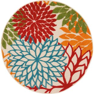 Indoor Outdoor Round Area Rugs You Ll Love Wayfair