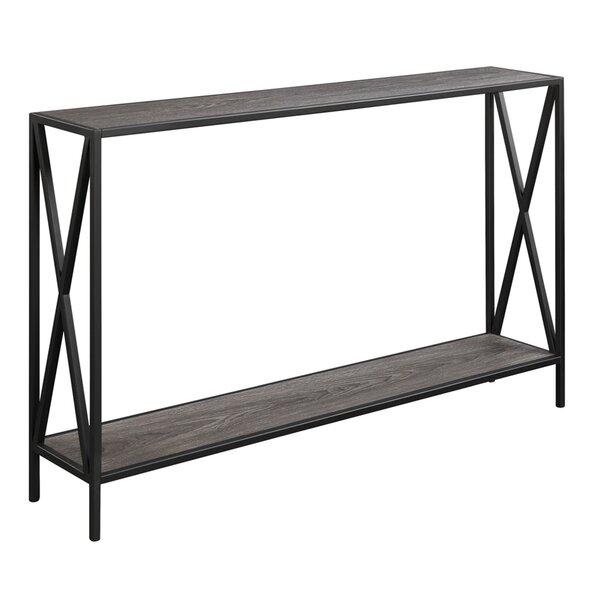 abbottsmoor metal frame console table & reviews | allmodern