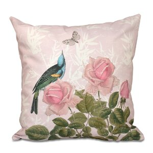 Westby Asian Rose Floral Print Throw Pillow