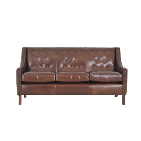 Westland And Birch Woburn Genuine Top Grain Leather Sofa Wayfair
