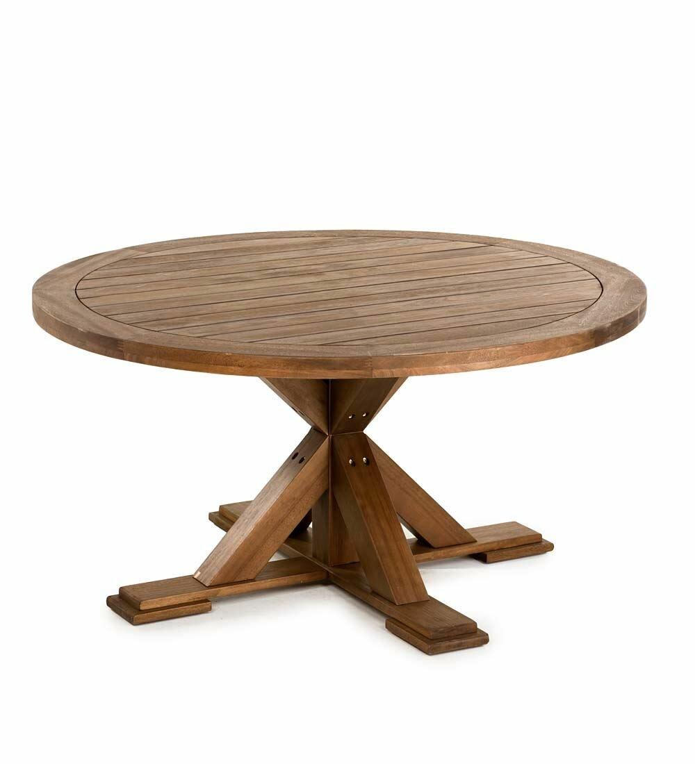 Plow U0026 Hearth Claremont Eucalyptus Round Wooden Dining Table | Wayfair