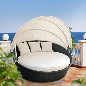 Holden Canopy Outdoor Patio Daybed with Cushions